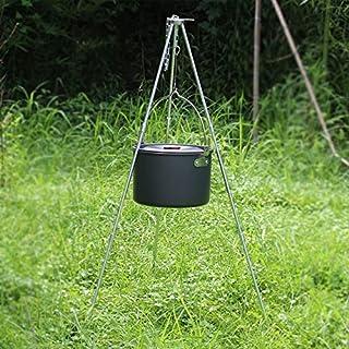 Cadeau pour homme et femme Tr/épied de camping En alliage ETbotu Accessoire dext/érieur Support de pot de suspension
