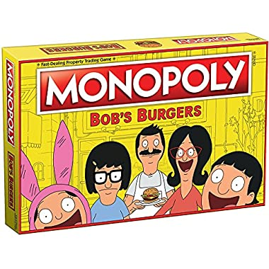 Monopoly Bobs Burgers Board Game | Themed Bob Burgers TV Show Monopoly Game | Officially Licensed Bob's Burgers Game