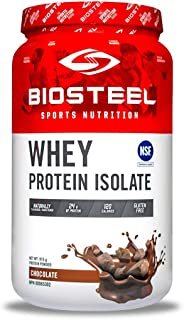 BioSteel Whey Protein Isolate, Grass Fed, Stevia Sweetened, Non GMO, Gluten Free, Soy Free, Antibiotic and Hormone Free, Chocolate, 816 Gram