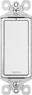Legrand-Pass & Seymour TM870WSLCC10 radiant 15 Amp Single Pole Rocker Switch with White LED Locator Light