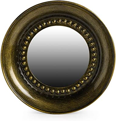ExclusiveLane 'Brassy Hammered Reflections' Decorative Wall Mirror For Living Room Bedroom In Iron (12 Inch) - Home Decoration Mirrors For Wall Decorative Mirror For Home Decor Looking Mirror For Wall