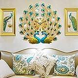 Large Peacock Wall Clock Crystal Creative Modern Art Decorative Clocks Wall Clocks for Living Room Decor …