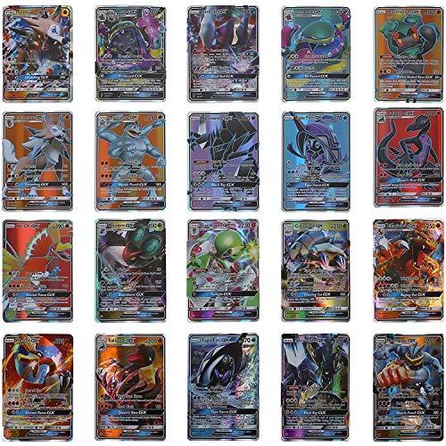 cheap4uk Tarjetas de Pokemon 60 de Piezas Mega Cards Pokemon Collection Juegos Cartas Regalo de Año Nuevo Juguetes para niños