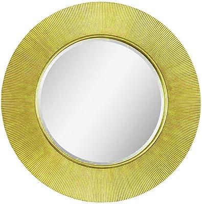 Velleitie Aluminum Wall Mirror for Home Decor| Living Room, Bedroom, Bathroom (30 x 30 inch)-Golden
