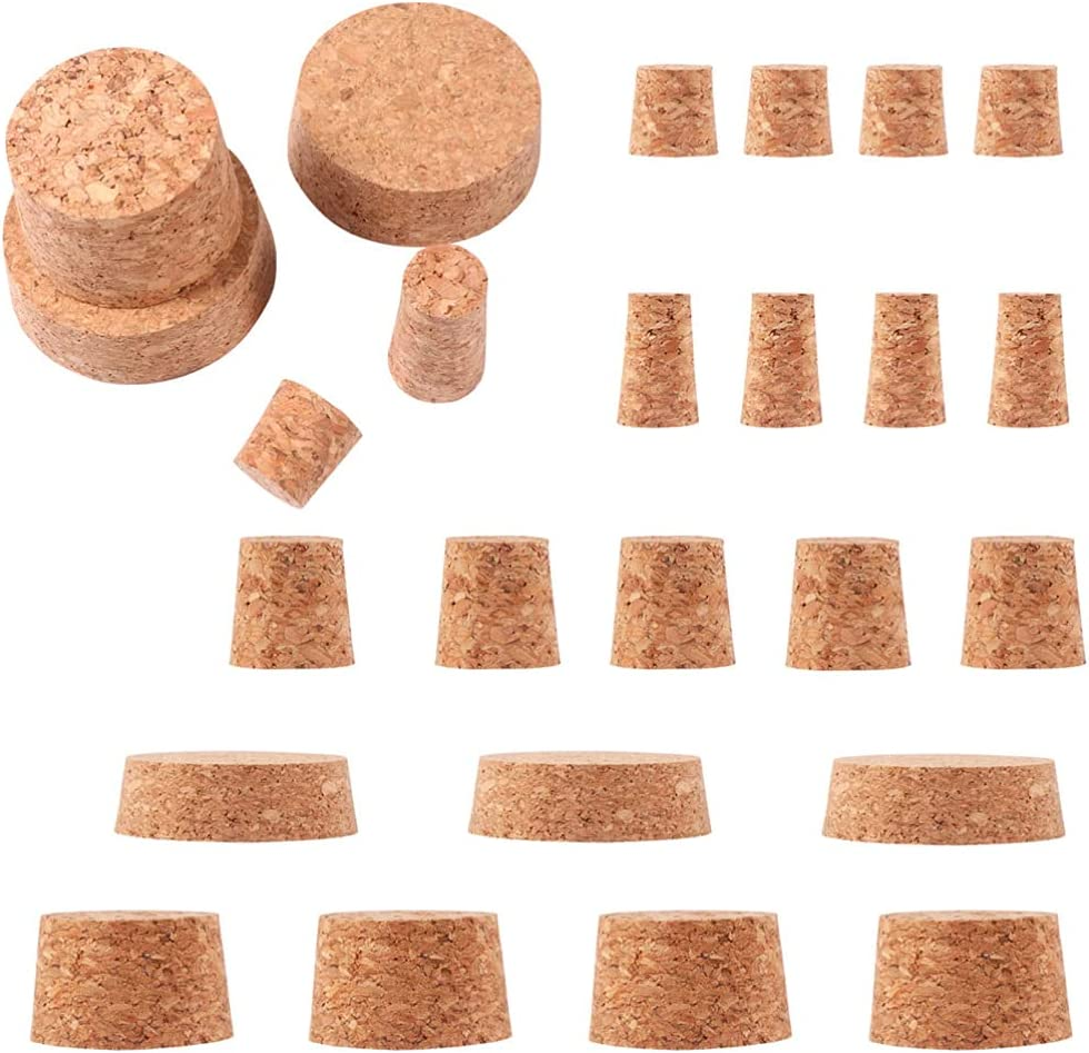 VICASKY 30pcs Tapered Cork Ranking Gorgeous TOP12 Plugs B Wine Bottle Wooden