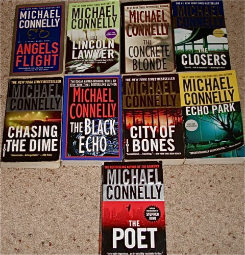 9 Titles By Michael Connelly: 'Angels Flight,' 'The Lincoln Lawyer,' 'The Concrete Blonde,' 'The Closers,' 'Chasing the Dime,' 'The Black Echo,' 'City of Bones,' 'Echo Park,' 'The Poet.' (Harry Bosch)
