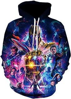 TUNSECHY Quantum Kingdom Cosplay's Ultimate Game, The Avengers, Men's Long-Sleeved Hoodie Sweatshirt