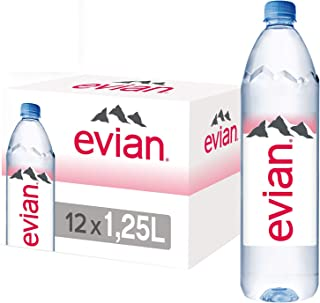 Evian Natural Mineral Water - 1.25 litres (Pack of 6)