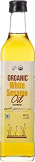 100% Organic; Cold Pressed White Sesame Oil by Down To Earth; No Additives; Virgin Sesame Oil For Cooking And Beauty- 500 ml
