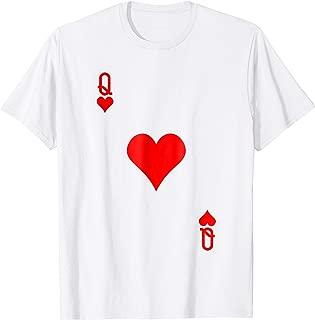 Queen of Hearts Costume Tshirt Halloween Deck of Cards