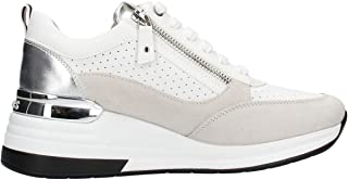 Keys K-1002 Sneaker Woman White, Scarpe Casual Stringate da Donna + Cerniera