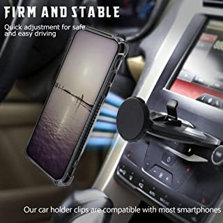 MANORDS Magnetic CD Car Phone Mount, Universal Magnet CD Mount 360°Rotation GPS Mount Compatible iPhone XS/X/8/8Plus/7Plus/Samsung Galaxy S9/S8/S7and More