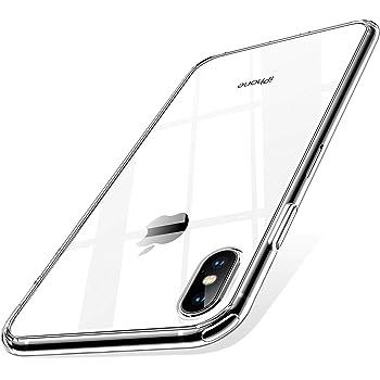 【Humixx】 iPhone XS Max ケース 薄型 高透明 耐衝撃 ワイヤレス充電対応 カメラレンズ保護 エアクッション技術搭載 透明 ウルトラ・ハイブリッド iPhone XS Max対応 クリア[Skin Series]