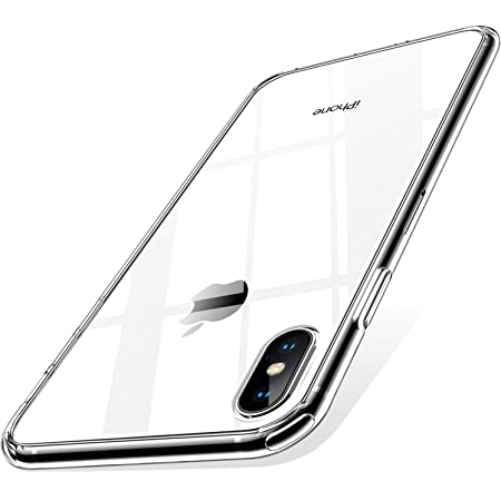 【Humixx】 iPhone XS Max ケース 2021最新型 薄型 高透明 耐衝撃 ワイヤレス充電対応 カメラレンズ保護 エアクッション技術搭載 透明 ウルトラ・ハイブリッド iPhone XS Max対応 クリア[Skin Series]