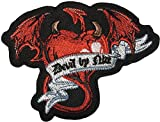 Papapatch Red Heart Devil Wings Biker Motorcycle Jacket Applique Embroidered Sew on Iron on Patch (IRON-DEVIL-HEART-RED)