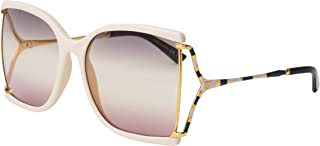 Lunettes de Soleil Gucci GG0592S IVORY/GREY PINK SHADED 60/18/130 femme