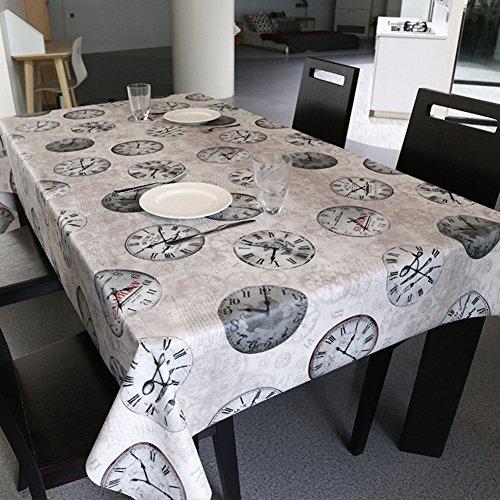 Nappe facile essuyez les clips en plastique de pvc du rectangle lavable de dîner pour des parties salle à manger garden hotel cafe restaurant anniversaire simple réseau imperméable-C 65x65cm(26x26inch)