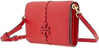 Tory Burch McGraw Wallet Crossbody Brilliant Red One Size