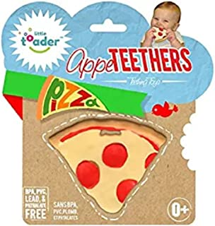 Little Toader Teething Toys - Soft Silicone Food Shaped BPA Free Teethers (Pizza)