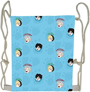 CardlyPhCardH Yuri On Ice!!! Chibi Pattern Drawstring Bag Cool Shoulder Bags Sport Gym Backpack Storage Bag