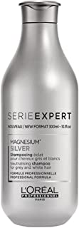 L'Oreal Serie Expert Magnesium Silver Neutralising Hair Shampoo, 300ml (Grey and White)