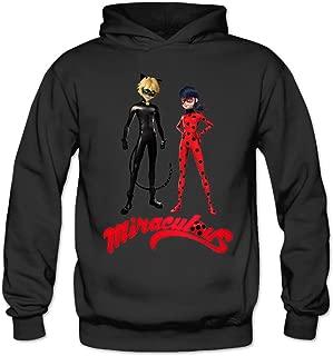 MSKOOK Women's Miraculous Ladybug Anime Hooded Sweatshirt