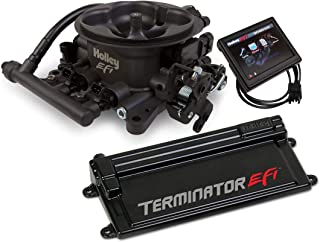NEW HOLLEY TERMINATOR EFI 4BBL THROTTLE BODY FUEL INJECTION SYSTEM W/TRANSMISSION CONTROL,HARD CORE GRAY,950 CFM,V8,RANGE 200-600 HP,COMPATIBLE W/STANDARD SQUARE 4150 STYLE FLANGE INTAKE MANIFOLDS