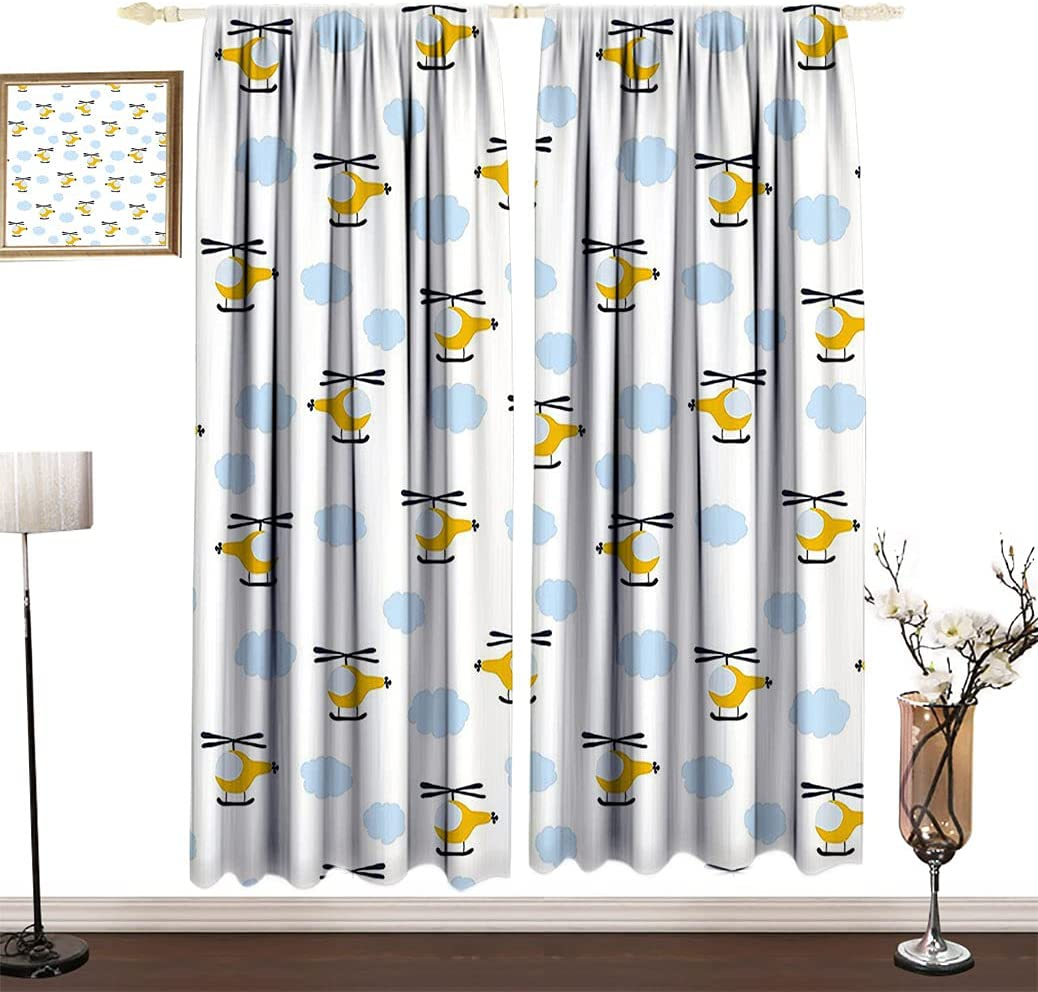 Kids Limited time for free shipping Decor Decorative Outlet sale feature Curtains Cute in Clouds Children Aircraft