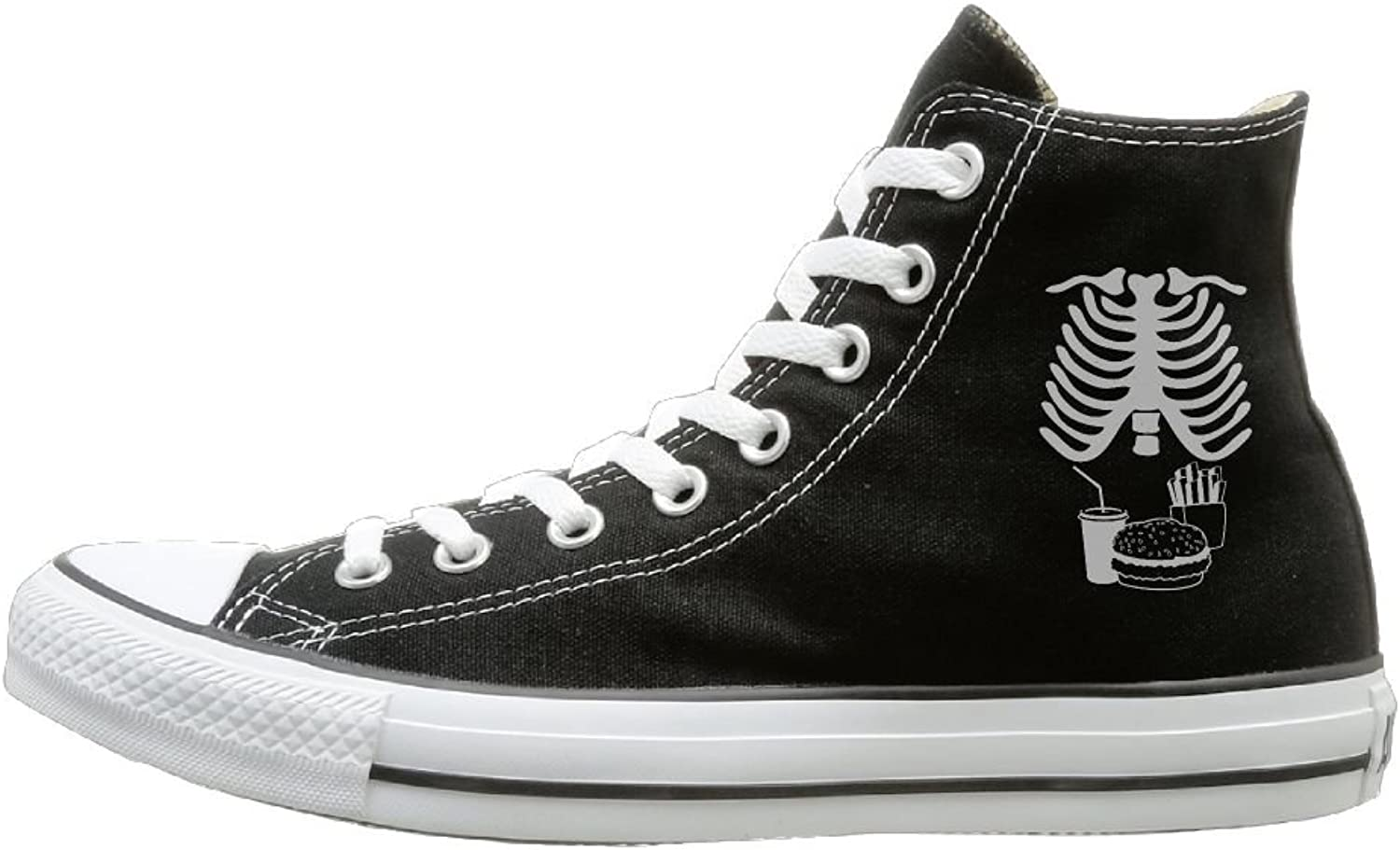 Classic High-Top Canvas Sneakers Skeleton Junk Food Casual Sneakers Canvas shoes With Rubber Sole