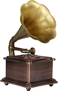 $238 » SMQHH Music Box Mini Vintage Retro Classic Style Phonograph Gramophone Shape Stereo Speaker Sound System Music Box 3.5mm A...