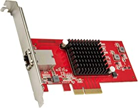Syba 1 Port 10 Gigabit Ethernet Network Card - PCIe x4 10Gb 10GBASE-T NIC AQTION AQC107-10Gbps Ethernet PCI-Express x4 Adapter