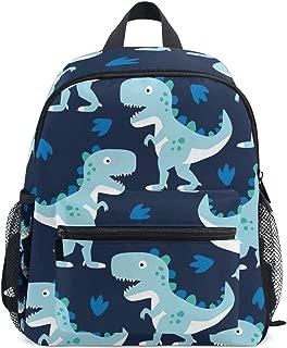 Dinosaur Navy Blue Kid Backpack School Bag Bookbag Children Travel Daypack Girl Boy 3-8 Years Old Toddler Preschool