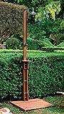 Luxurygarden Doccia da Giardino Esterno per Piscina in Legno Balau con Pedana e Soffione