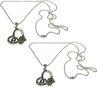 Utkarsh (Set Of 2 Pcs) Valentine's Day Special Stainless Steel I Love You Romantic Heart Design With Diamond Nug Engraved ...