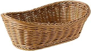 YiLei-LL Paniers et boîtes de rangement , Ovale panier en osier tissé, 11 pouces Corbeille à pain, service panier, Panier ...