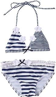 45b5b5c99c Maillots de Bain 2 Pièces Enfants Fille Broderie Gland Bikinis Âge 2-16 Ans