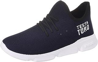 Testa Toro Microfiber Lace-up Training Sneakers for Men 45