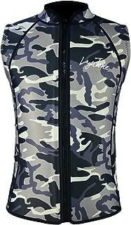 Layatone 2mm / 3mm Wetsuit Vest Men Women Diving Vest Top Scuba Vest Canoeing Sauna Suit Vest Neoprene Top Sleeveless Wet Suit Adults