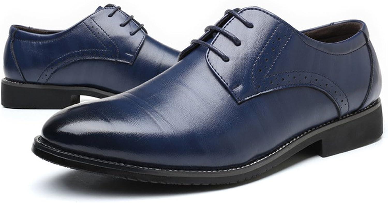 Formale Geschäfts-Schuhe Geschäfts-Schuhe Geschäfts-Schuhe der Männer klassische matte PU-lederne obere Spitze oben Breathable gefütterte Oxfords (Farbe   Blau, Größe   24.5CM)  2ab705