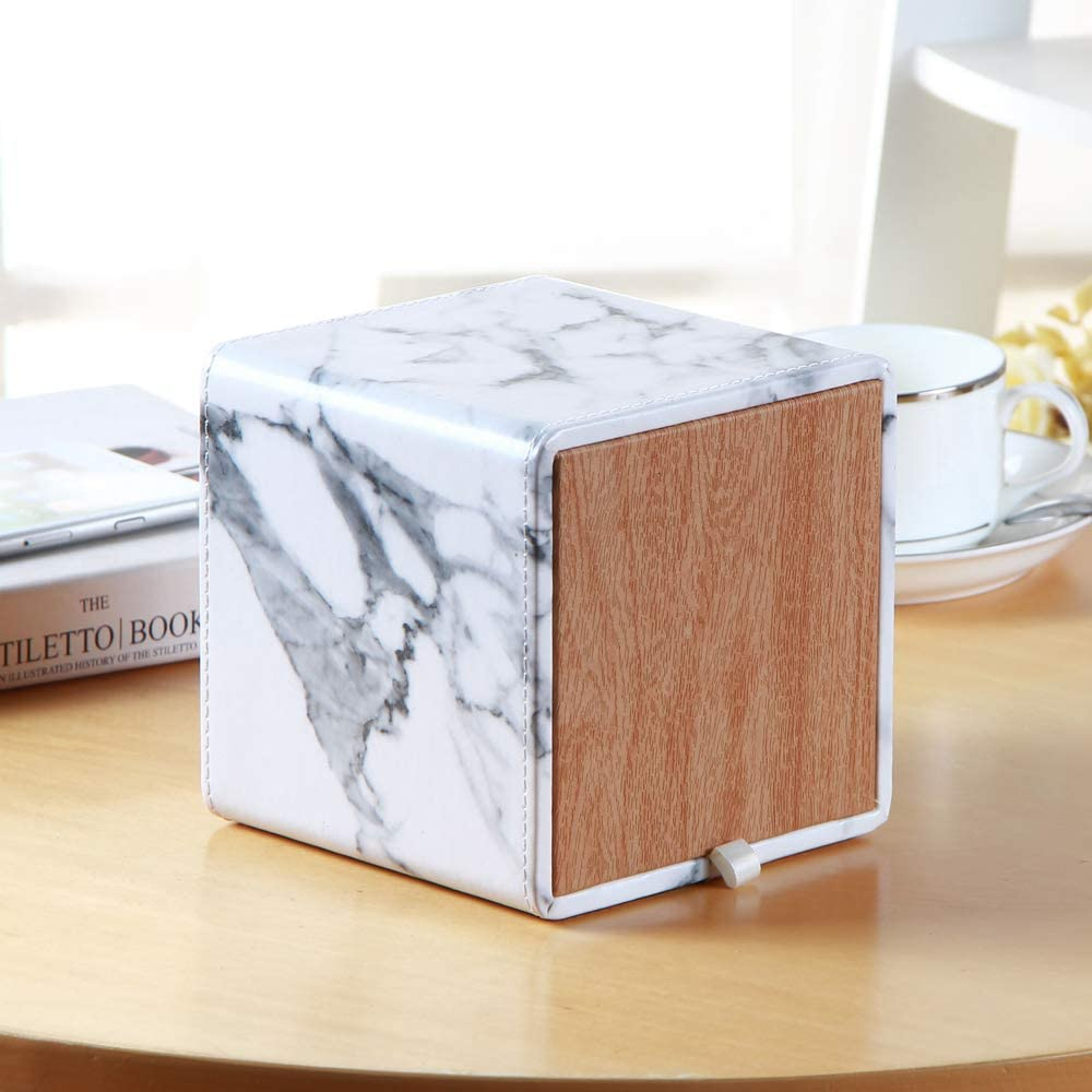 oficina ba/ño estuche dispensador de papel de bombeo para casa Caja de pa/ñuelos de cuero retro rectangular para caja de pa/ñuelos faciales organizador de almacenamiento de servilletas coche/…