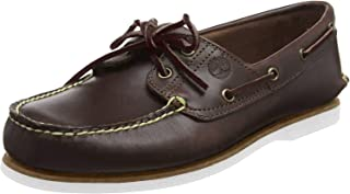 Men's Classic 2-Eye Boat Shoe, Dark Brown, 10 M