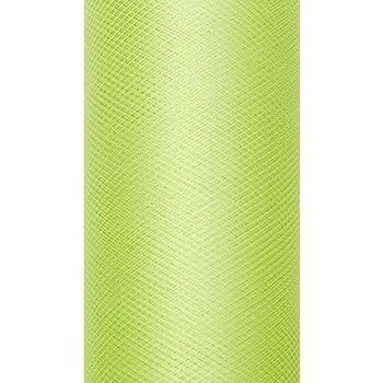 Party D/écoration Mariage Rouleau de tulle pour noeud vert anis uni 20m/ètres x 8cm tulle en bobine de 20 m/ètres largeur 8cm