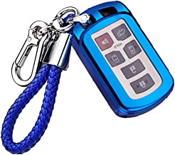 2011 2012 2013 2014 2015 2016 2016 2018 2019 2020 blue Great luck TPU Car Key Case Protector Remote Smart Key Cover Fob Case,with Key Chain for Toyota Sienna
