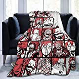Gorgeous Socks BNHA Kirishima Fleece Throw Blanket Soft and Warm Flannel Blanket for Couch Sofa,Bed