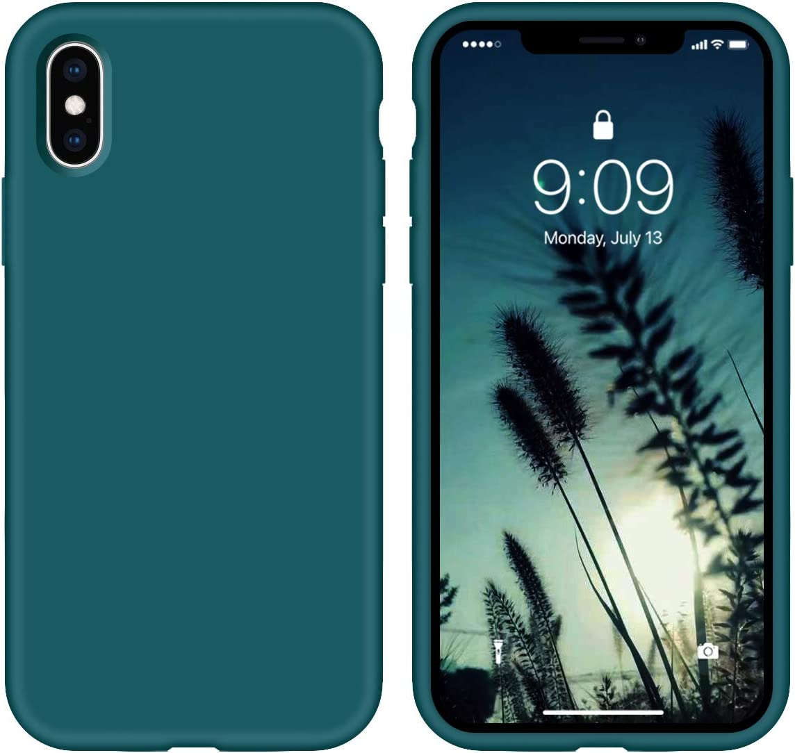 cillen Case for iPhone X Xs Silicone Liquid inch Baltimore Mall 5.8 Max 84% OFF Gel