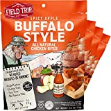 Field Trip Chicken Jerky Bites   Keto Gluten Free Jerky, Low Carb, Healthy High Protein Snacks With No Nitrates, Made With All Natural Ingredients   Spicy Buffalo Style   2.5oz Bags, 4Count