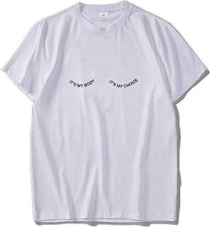 JIESENGTOO It's My Body Funny Tshirt Male It's My Choice Casual Shirt Personality Fashion Tee Shirts