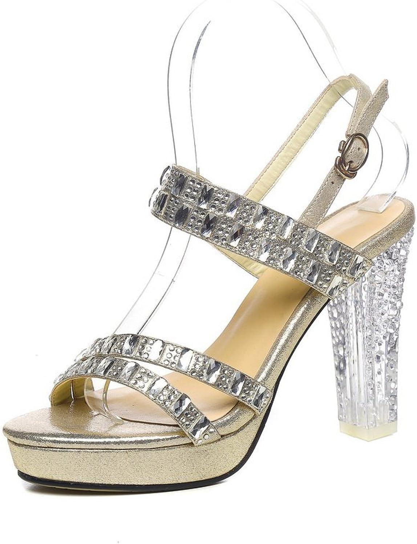 1b6afe6221bc9 1TO9 Womens Heeled-Sandals Studded Peep-Toe Ultrasuede Heeled ...
