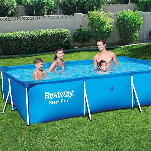 Bestway Rectangular Frame Swimming Pool, Steel Pro, 9.1 ft