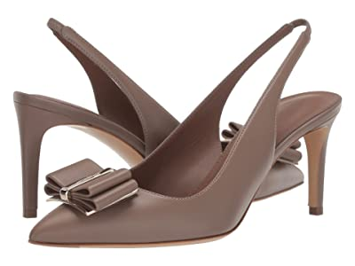 Salvatore Ferragamo Zahir 70 (Taupe Leather) Women